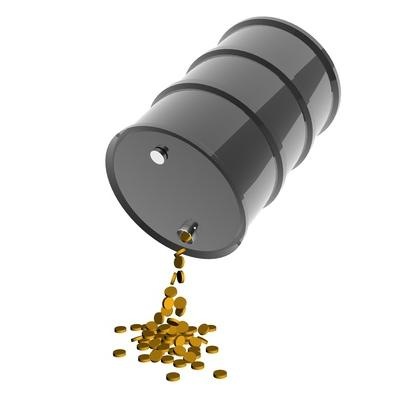 Oil barrel with coins