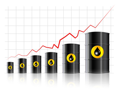 Increase of oil prices - Crisis concept