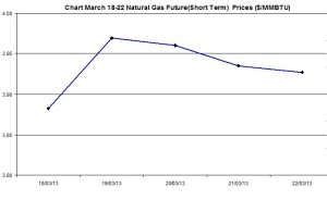 Natural Gas price  chart -  March 18-22  2013