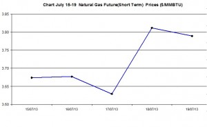 Natural Gas price  chart -  July 15-19 2013