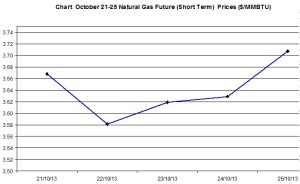 Natural Gas price  chart - October 21-25   2013