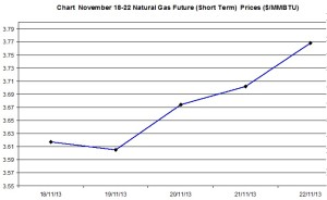 Natural Gas price  chart - November 18-22  2013